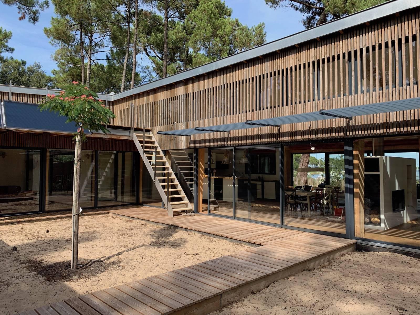 Architecte Maison Bois Et Ossature Bioclimatique Bordeaux Denis Cartier Architecte