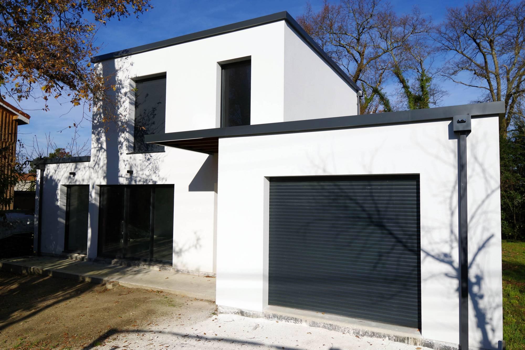 Maison Ossature Métallique Contemporaine architecte maison bois et ossature bioclimatique bordeaux